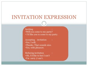 Contoh Dialog Expressing of Invitation