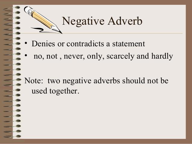 Pengertian dan Contoh Kalimat Negative Adverb Bahasa Inggris