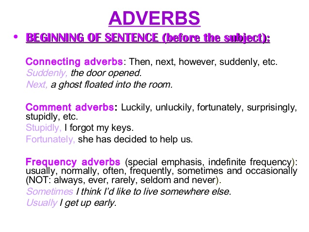 Pengertian dan Contoh Kalimat Sentence Adverb