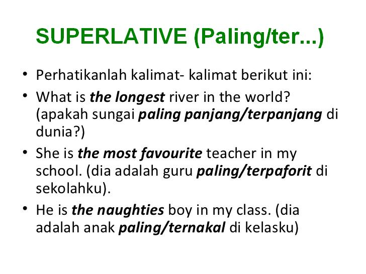 Pengertian dan contoh Superlative Degree