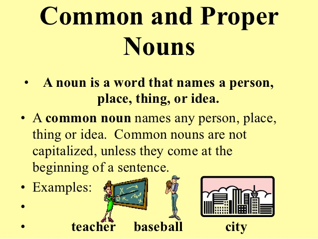 Pengertian dan Contoh Kalimat Common and Proper Noun