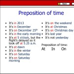 Pengertian dan Contoh Kalimat Preposition of Time