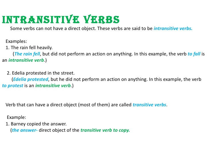 Daftar dan Contoh Kalimat Common Intransitive Verbs