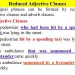 Pengertian dan Contoh Kalimat Reduced Adjective Clause