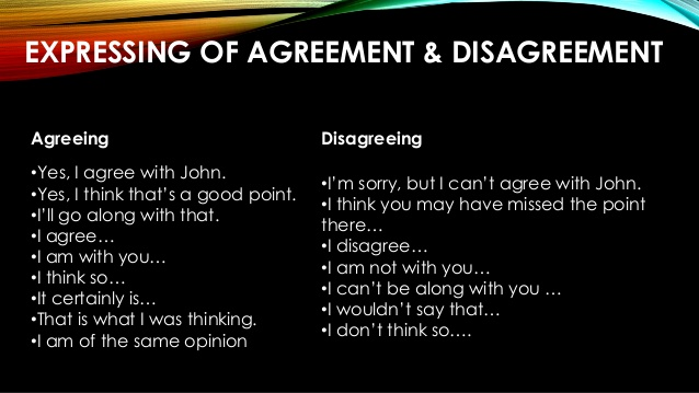 5 Contoh Dialog Expressing Agreement and Disagreement